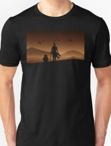 Rey and BB-8 Silhouette Art Unisex T-Shirt