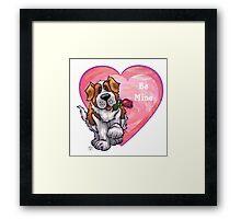 St. Bernard Valentine's Day Framed Print