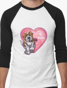 St. Bernard Valentine's Day Men's Baseball ¾ T-Shirt