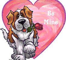St. Bernard Valentine's Day by ImagineThatNYC