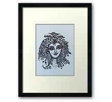 Zentangle Fairy  Framed Print