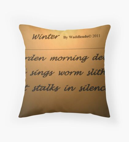 Morning Haiku Throw Pillow