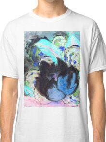 Purple Peonies in Shadow World Classic T-Shirt