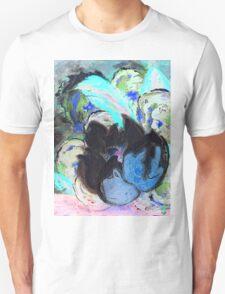 Purple Peonies in Shadow World T-Shirt
