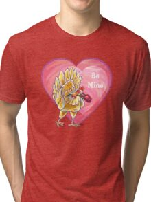 Chicken Valentine's Day Tri-blend T-Shirt
