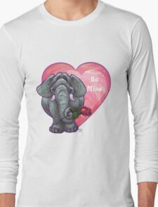 Elephant Valentine's Day Long Sleeve T-Shirt