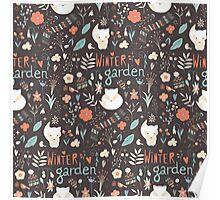 Winter garden pattern 003 Poster