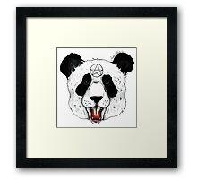 Satanic Panda Framed Print