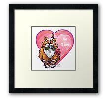 Ginger Cat Valentine's Day Framed Print