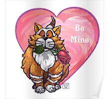 Ginger Cat Valentine's Day Poster