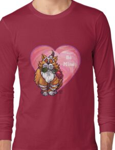 Ginger Cat Valentine's Day Long Sleeve T-Shirt