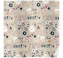 Winter garden pattern 004 Poster