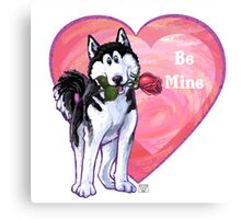 Husky Valentine's Day Canvas Print