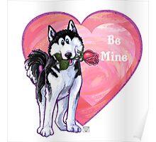 Husky Valentine's Day Poster