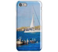Newport Oregon - Sailing The Yaquina Bay iPhone Case/Skin
