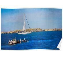 Newport Oregon - Sailing The Yaquina Bay Poster