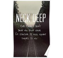Neck Deep Lyrics #2 Poster