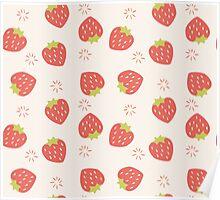 Strawberry pattern Poster