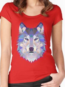 Triangle wolf Women's Fitted Scoop T-Shirt