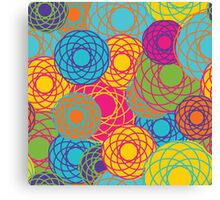 Abstract Seamless Floral Background  Canvas Print