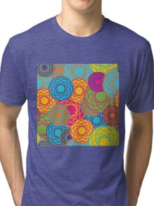 Abstract Seamless Floral Background  Tri-blend T-Shirt