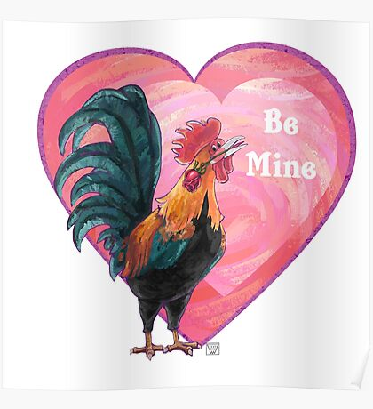 Rooster Valentine's Day Poster