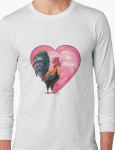 Rooster Valentine's Day Long Sleeve T-Shirt