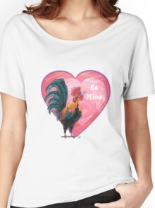 Rooster Valentine's Day Women's Relaxed Fit T-Shirt