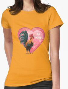 Rooster Valentine's Day Womens Fitted T-Shirt