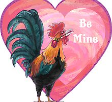 Rooster Valentine's Day by ImagineThatNYC