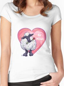 Sheep Valentine's Day Women's Fitted Scoop T-Shirt