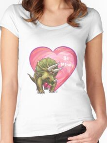 Triceratops Valentine's Day Women's Fitted Scoop T-Shirt