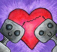 Bot Love by rainydayart