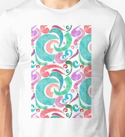 Party Confetti Ribbon Watercolor Design Unisex T-Shirt