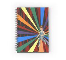 Backgammon Rainbow Boy Spiral Notebook
