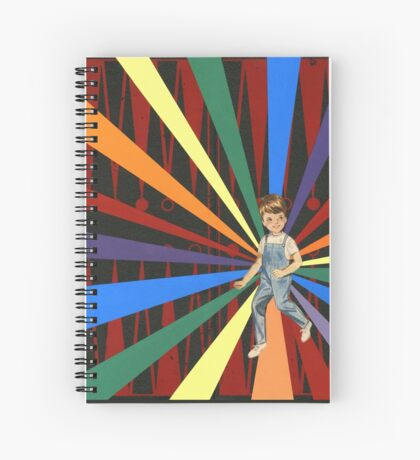 Backgammon Rainbow Boy Spiral Notebook