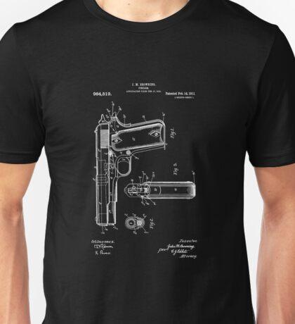 1911 Patent Blueprint Unisex T-Shirt
