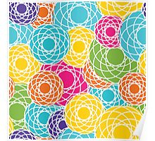Abstract Seamless Floral Background  Poster