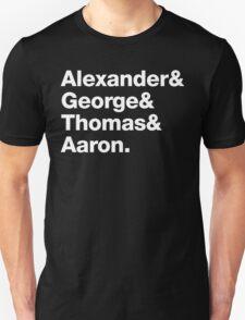 Alexander & George & Thomas & Aaron Unisex T-Shirt