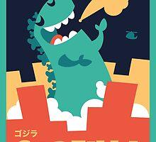 Godzilla by steppuki