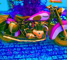 53 Triumph (1) - Retro Pop Art Bike by Mark Haynes Photography
