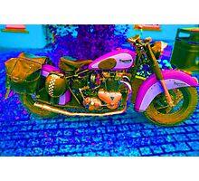 53 Triumph (1) - Retro Pop Art Bike Photographic Print