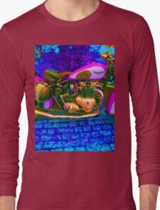 53 Triumph (1) - Retro Pop Art Bike Long Sleeve T-Shirt