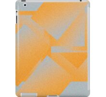 Orange gray geometric gradient iPad Case/Skin