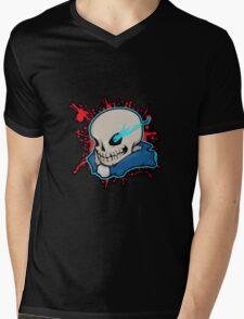 Sans The Skeleton Mens V-Neck T-Shirt