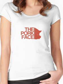 the pork face Women's Fitted Scoop T-Shirt