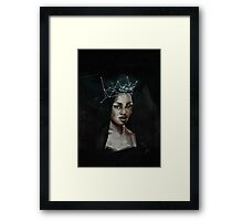 Stardust was her cloak and the constellations her crown Framed Print