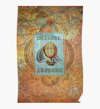 imagine and explore Poster