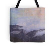 mountains in clouds Tote Bag
