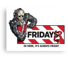 Jason Voorhees - It's Always Friday the 13th Canvas Print